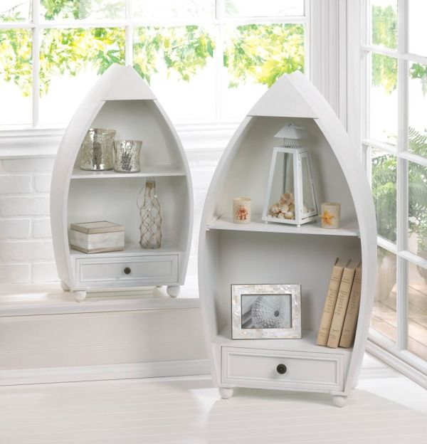 Home Locomotion Rowboat Curio Cabinets