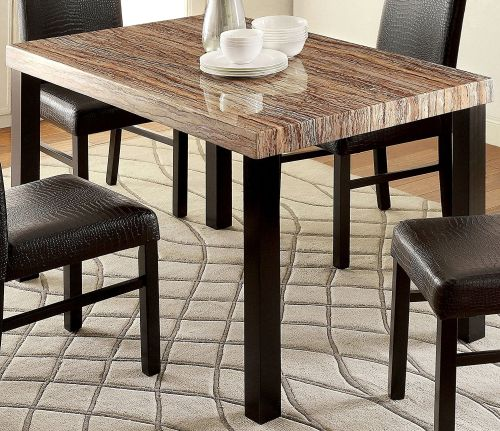 Furniture of America Bahia Contemporary Faux Marble Dining Table