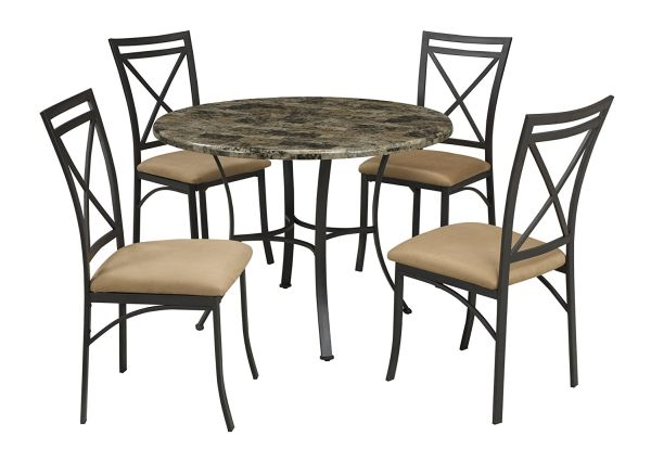 Faux Marble Dining Table Set