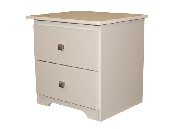 Bedz King 2 Drawer Nightstand White