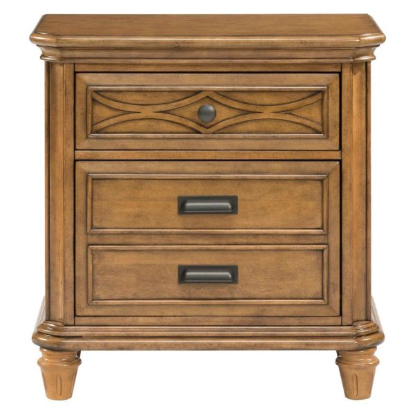 Picket House Furnishings Mysteria Bay 2 Drawer Nightstand in Honey
