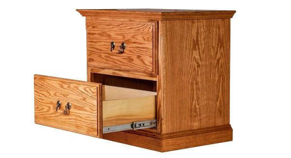 Forest Designs Traditional Two Drawer Nightstand