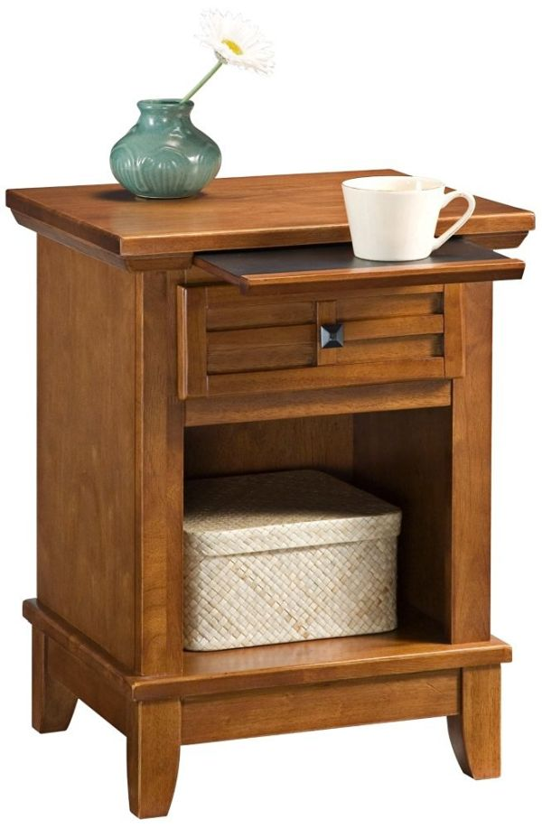 Home Styles 5180-42 Arts and Crafts Night Stand Cottage Oak Finish