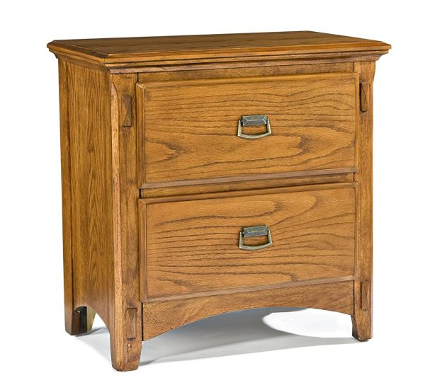Imagio Home PR-BR-5402-MBN-C 2-Drawer Pasilla Nightstand in Mission Brown Finish