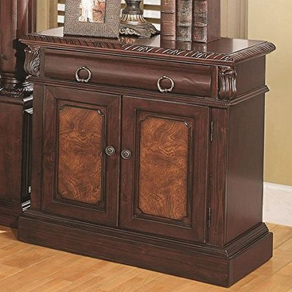 Coaster Home Furnishings 202202 Traditional Nightstand, Cherry
