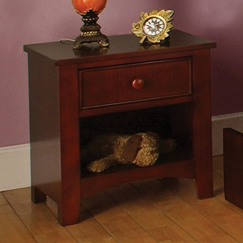 Solid Wood Nightstand Cherry Youth Finish