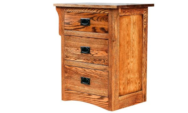 Forest Designs Arts and Crafts Three Drawer Nightstand