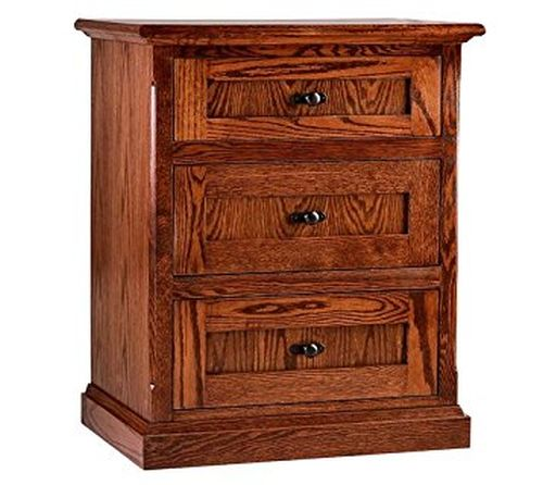 Mission Oak Nightstand with Drawers