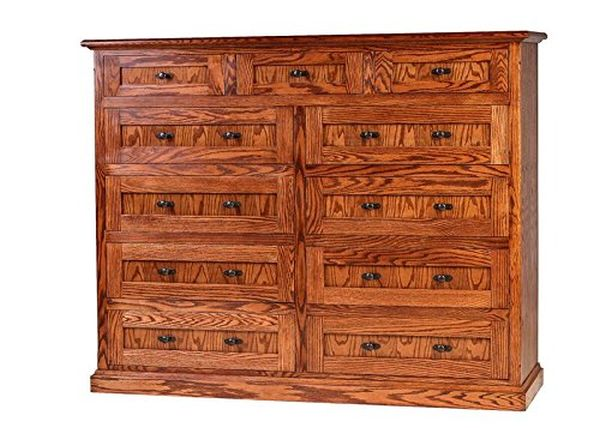 Forest Designs Mission Oak Eleven Drawer Dresser Antique Alder
