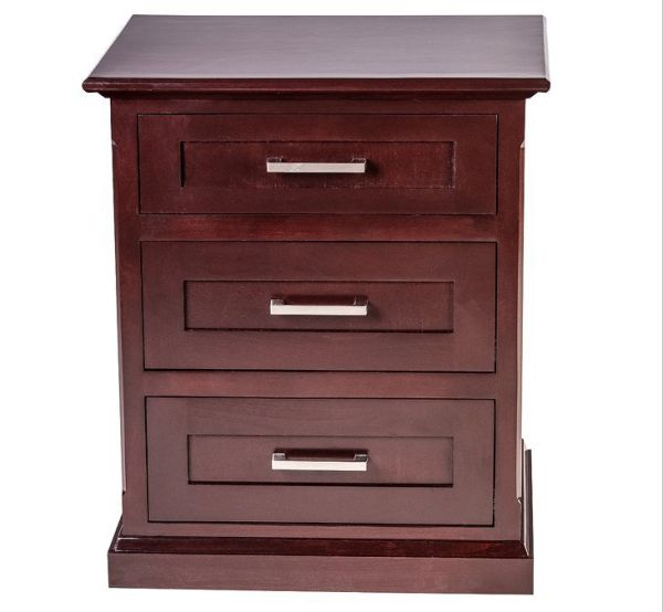 Forest Designs Mission Three Drawer Nightstand Golden Oak