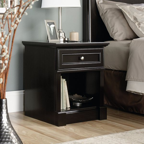 Sauder Nightstand Oak and Black