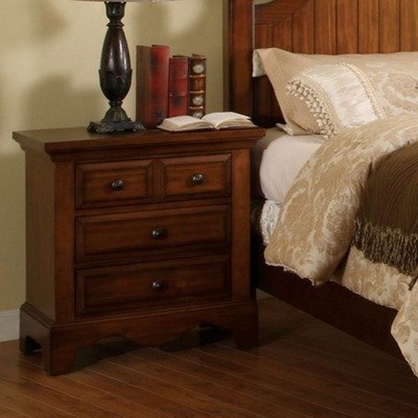 Sorrento Nightstand in Cherry Oak
