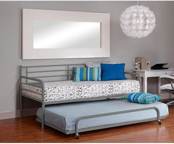 DHP Separate Trundle for DHP Metal Daybed Frame Silver