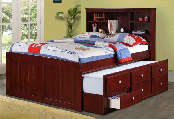 Full Trundle Bed in Dark Cappuccino
