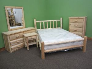 Midwest Log Furniture - Premium Log Bedroom Suite - King - 5pc