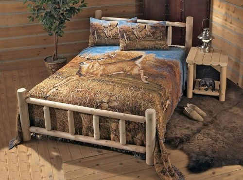 king size log bed kits