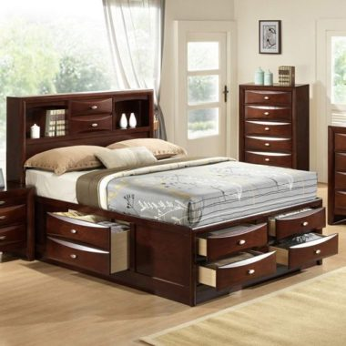 queen bed frame with storage