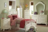 Cinderella 4 PC Twin Bedroom Set by Home Elegance in Off-White Cream