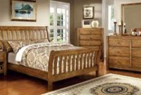 Conrad Country Style Rustic Oak Finish Cal King Size 6-Piece Bedroom Set