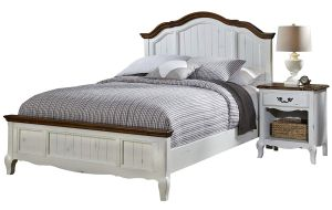Home Styles 5518-5018 The French Countryside Queen Bed and Night Stand Set