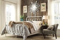 iron bed queen vintage