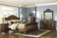 AshleyNorth Shore B553 4 pc Queen Sleigh Bedroom Set - In Home White Glove Delivery Included