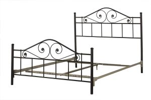 Hillsdale Furniture 1403BQR Harrison Queen Bed with Bed Frame, Ee Black