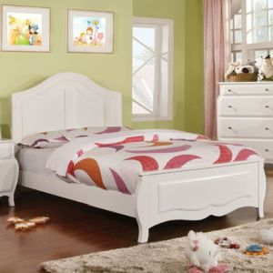 247SHOPATHOME IDF-7940F Childrens-Bed-Frames, Full, White