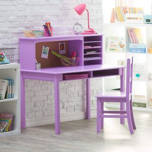 Media Desk & Chair Set - Lavendar