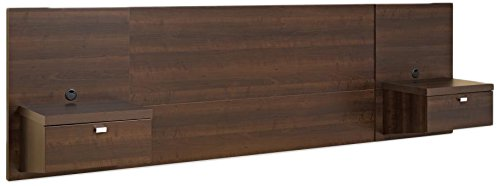 Prepac EHHQ-0520-2K Series 9 Designer Floating Headboard with Nightstands, Queen, Espresso
