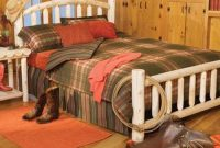Eco-Friendly Furnishings 76 Handcrafted Cedar Log Style Arched Wooden Double Bed Frame