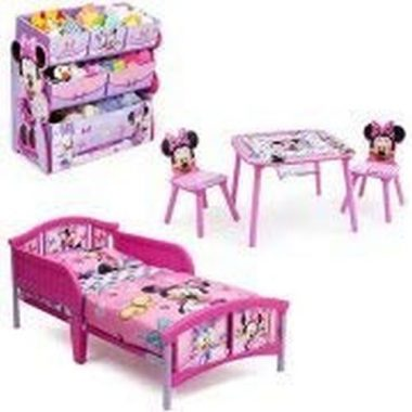 Minnie Mouse Bedroom Set with Bonus Toy Organizer