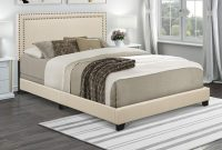 Pulaski Nailhead Trim in Cream Upholstered King Bed