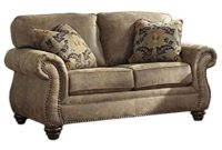 Ashley Furniture Signature Design - Larkinhurst Traditional Loveseat - Faux Weathered Leather Sofa - Earth