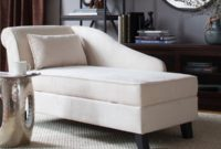 Castleton Home Storage Chaise Lounge Modern Long Chair Couch Sofa Furniture for Foyer Hall Lobby Entry or Living Room Khaki