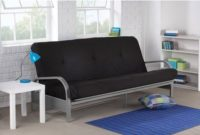 Mainstays Metal Arm Futon with Mattress Black