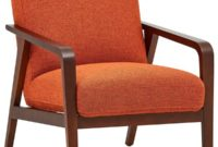 Rivet Huxley Mid-Century Accent Chair Burnt Orange