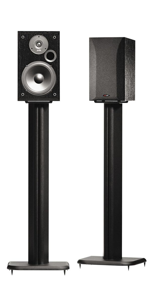 SANUS BF31-B1 31 Speaker Stands for Bookshelf Speakers up to 20 lbs - Black - Set of 2
