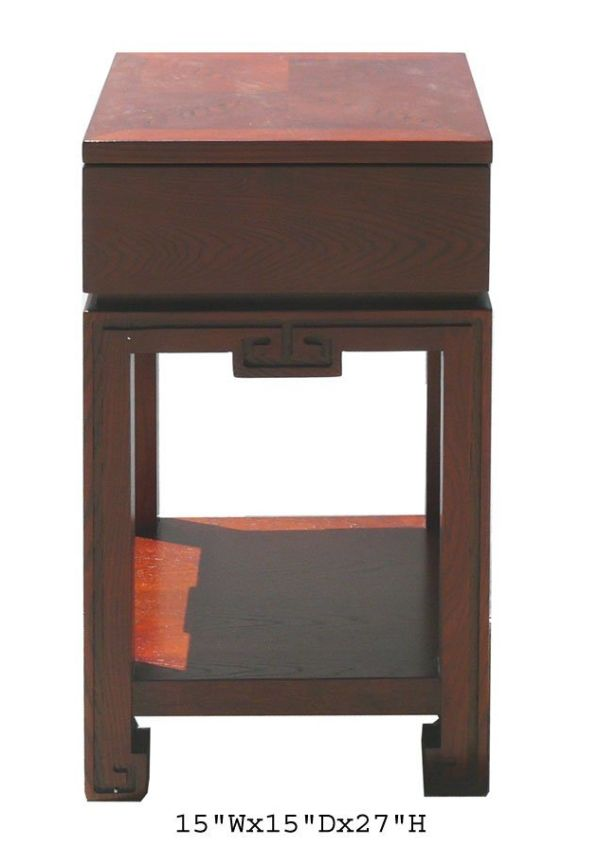 Solid Oak Wood Nightstand End Table Cabinet Awk1889