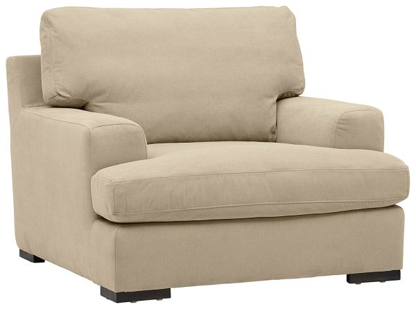 Stone and Beam Lauren Down Filled Overstuffed Chair 46W Fawn