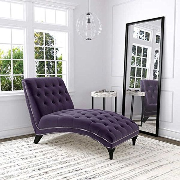 Ursula Fabric Chaise Lounge - Purple