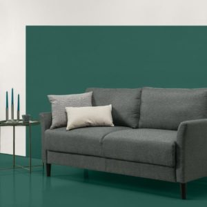 Zinus Classic Upholstered Sofa, Grey with Hint of Green