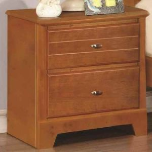 21 in. Nightstand in Honey Oak Finish