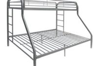 ACME Furniture 02052SI Tritan Bunk Bed, Twin X-Large Queen, Silver