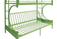 ACME Furniture 02091W-GR Eclipse Futon Bunk Bed, Twin Full, Green