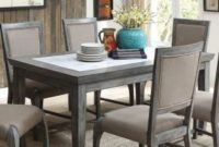 ACME Furniture 72115 Freira Real Marble Dining Table, Antique Gray