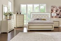 Amalfi 7 Pc. King Bedroom Furniture Set In White