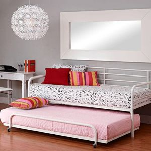 DHP Separate Trundle for DHP Metal Daybed Frame - White