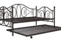 DHP Twin Metal Daybed and Roll Out Trundle Combo, Bronze Finish