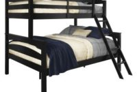 Dorel Living Brady Twin over Full Solid Wood Kid's Bunk Bed with Ladder, Black